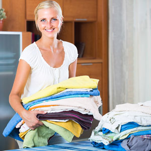 Young-women-folding-laundry