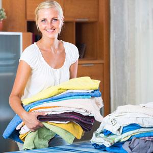 Young-women-folding-laundry
